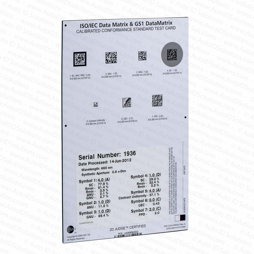 Gs1 Calibrated Conformance Standard Test Card For Datamatrix 2d Bar