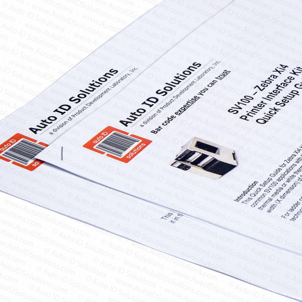 Printronix SV100 and SV200 Bar Code Verifier Interface Kit for Zebra Xi4  Printers - Standard Kit - Auto ID Solutions