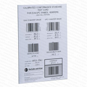 GS1 Calibrated Conformance Standard Test Card EAN UPC Symbol Verifiers
