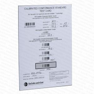 GS1 Calibrated Conformance Standard Test Card Databar RSS Verifiers