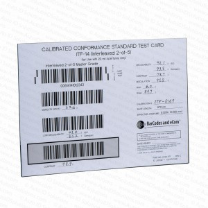 GS1 Calibrated Conformance Standard Test Card ITF 14